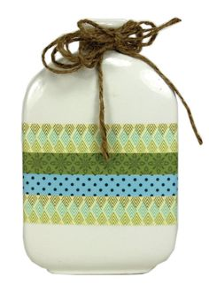 Washi Tape Vase. Click through link for a detailed project sheet.