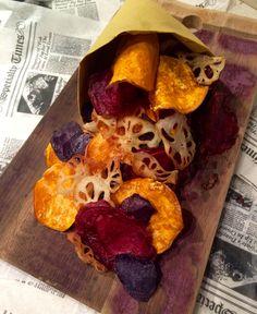 Chips…alternative! | zenzero in cucina #chips #patataamericana #patatevitelotte #barbabietola #radicediloto #zenzeroincucina