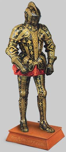 Armour of George Clifford, 3rd Earl of Cumberland (c. 1588) at Met. Museum of Art