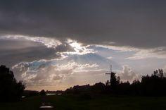 Korenmolen De Hoop in Gorinchem stands up against the autumn skies.