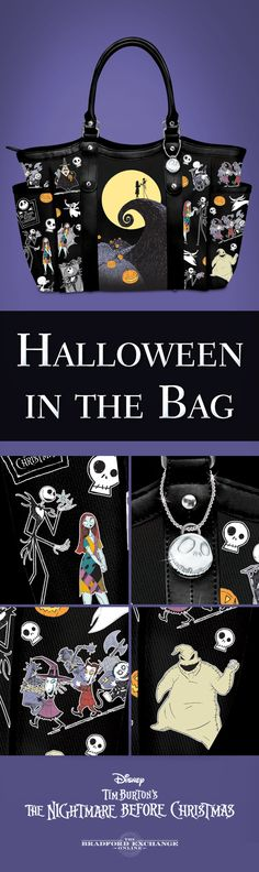 Whether it's a full moon out or not, your Halloween just got a whole lot more fashionable. For fans of Tim Burton's iconic film, The Nightmare Before Christmas Tote Bag is sure to please, with its striking portraits of all your favorite characters. There's even a metallic Jack Skellington charm to add a dash of spooky style.