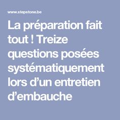 13 questions posées systématiquement lors d'un entretien d'embauche - StepStone Job Cv, Curriculum Vitae, Work Productivity, Resume Cv, Questions, Job Search, New Job, Good To Know, Communication
