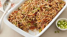 If you can't get enough egg rolls, this is the dinner for you! We've packed all of the goodness of the takeout classic—pork, ginger, cabbage, snow peas and teriyaki sauce—into easy-to-make casserole form, topped with the added crunch of Chow Mein noodles.