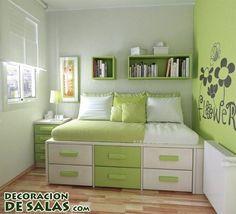 Tres ideas para habitaciones juveniles pequeñas