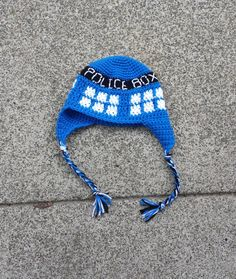 Dr. Who inspired  Tardis Hat, Dr. Who, Tardis Hat, Police Box Hat