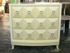 using colors from paint swatches / 3 colors & white each drawer / illusion of 3 dimensional