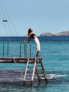Joan Smalls in St Barths, Caribbean. Photography by Patrick Demarchelier. Styled by Tonne Goodman for Vogue US
