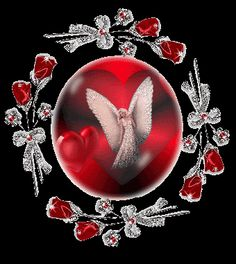 circle of roses and angel Pictures, Images and Photos
