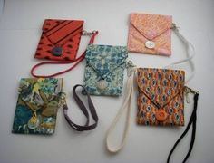 NOTE: and also SOLD! Did your dad or brother wear one just like it? This is one of the handiest wristlets I've designed so far. Made from repurposed, clean sil Mens Ties Crafts, Tie Crafts, Sewing Hacks, Sewing Crafts, Sewing Projects, Old Ties, Tie Quilt, Unique Purses, Purses And Bags