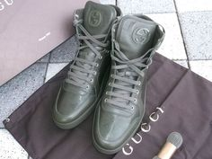 Gucci High Tops Sneakers Military Green