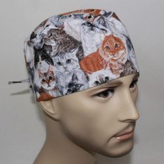 Men's Surgical Scrub Cap by HatEnvyScrubHats on Etsy