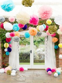 Us 074 26 Off Qifu Wedding Decoration Table Pompom Tissue Paper Birthday Party Decor Background Accessories Baby Shower Weeding Decor In Party Cheap Wedding Decorations, Birthday Party Decorations, Birthday Parties, Lanterns Decor, Paper Lanterns, Paper Flowers, Party Time, Babyshower, Garden Ideas