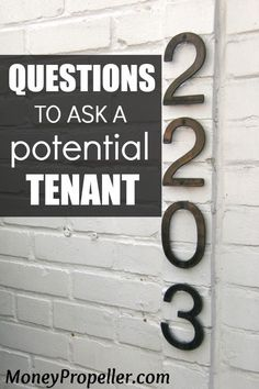 As a landlord, figuring out what a tenant is REALLY like is difficult. Here are things to ask a potential tenant to try to get at their true character, without being extremely obvious. These can help save you from a massive, expensive headache as a landlord. Check them out now - http://moneypropeller.com/things-ask-potential-tenant/