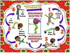 PE Super Friends Fitness Blasts- 4 FREE Mini Workouts | pee wee PE ...