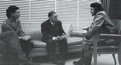 Симона де Бовуар, Жан-Поль Сартр и Че Гевара в 1960 году на Кубе