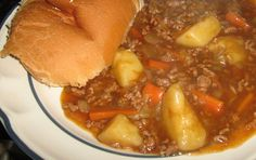 Recipe for Mince Stew How to Cook a Ground Beef Meal http://howto-answers.hubpages.com/hub/how-to-make-recipe-Stew-mince-steak-ground-beef-minced-home-made-potatoes-vegetables-for  Mince steak and vegetable stew ready to eat