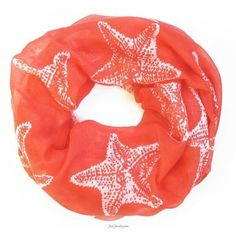 This coral starfish scarf is perfect for a cool summer evening.