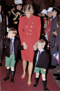 Diana with William and Harry.  She would have been so proud of her new grand daughter and cherished her grandson