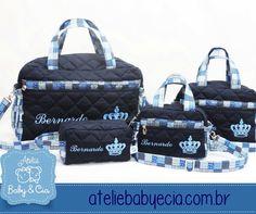 Bolsas para bebês Exclusivo e Personalizado - www.ateliebabyecia.com.br