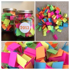 One way to notice the joy in your everyday life. :: 5 benefits of noting happy moments - positively present. I did ths last year and doing it again ths year Gratitude Jar, Happy Jar, Happy Moments, Happy Things, Happy Thoughts, Happiness Project, Arts And Crafts, Diy Crafts, Happy Birthday
