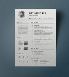 Guide Templates Resumeway Resume Template 6  Cars  Bikes  Pinterest  Template