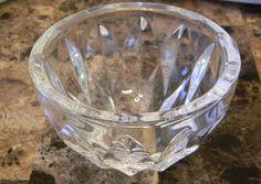 """Kosta Boda Crystal Contemporary Small Bowl Signed Heavy 3"""" Dish Elegant"""