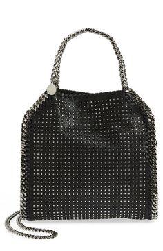 Stella McCartney  Mini Falabella  Studded Faux Leather Tote 1190 Tote Purse 5a11e5be318c
