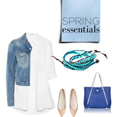 """Blue & White Spring Fashion"" by kristy-kim on Polyvore"