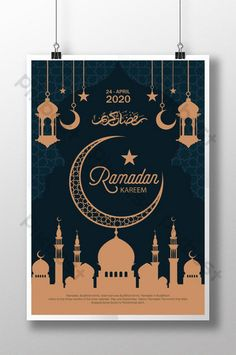 Poster Ramadhan, Ramadan Poster, Ramadan Background, Flyer And Poster Design, Flyer Design Inspiration, Golden Design, Free Photoshop, Instagram Highlight Icons, Creative Logo