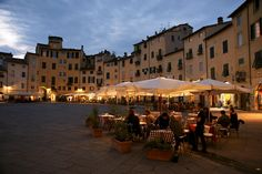 Lucca Town Center at Night