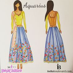 Aquarius with a summer explosion...pastel #love blended together. #illustrations #amazing #igers #florals #fashionista #blogger #cute #stunning #anarkali #ss15 #asianwedding #asianbride #fashiondesigner #designer #couture #indiaboulevard #missdesicouture #bollywood #pastels #instagood #lategram #outfits