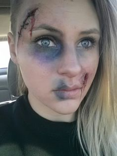 We love this awesome look! We teach similar scary Special FX Makeup!  effects makeup!  Visit www.AstuteArtistryStudio.com or call (248) 477-5548 for more information about Astute Artistry and the Center For Film Studies in Farmington Hills, MI!