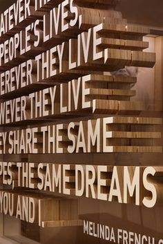 Seriously thick dimensional letters   Olson Kundig Architects - Projects - Bill & Melinda Gates Foundation Visitor Center