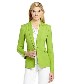 Tahari by ASL Linen-Blend Jacket-- to pair with my million sleeveless dresses?