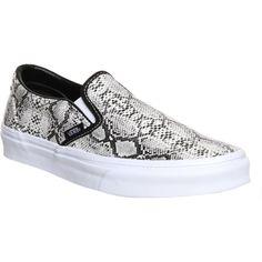 Vans Leather Snake Slip-on Sneakers as seen on Olivia Wilde
