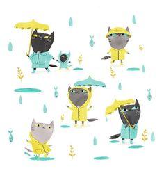 cats in the rain // Кошки ТРИ