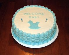 Baby Shower Cakes You Can Make At Home ~ Spectacular buttercream icing babyshower cakes baby shower cake