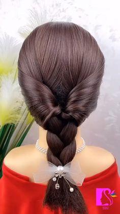 Hairdo For Long Hair, Bun Hairstyles For Long Hair, Girl Hairstyles, Braided Hairstyles, Front Hair Styles, Medium Hair Styles, Hair Tutorials For Medium Hair, Hairstyle Tutorials, Hair Style Vedio
