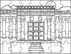 zerubbabel temple coloring pages | Kids coloring page from What's in the Bible? featuring ...