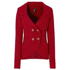 Four button cardigan (€42) ❤ liked on Polyvore