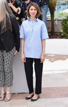 Sofia Coppola in Valentino shirt and pants - At The Jury Photocall @ 2014 Cannes Film Festival. (14 May 2014)