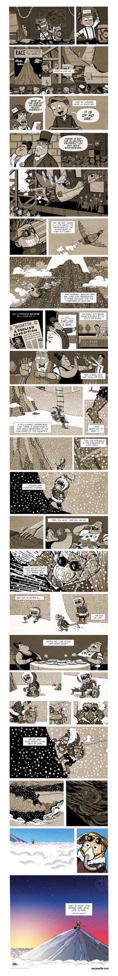 ZEN PENCILS » 167. GEORGE MALLORY: Because it's there