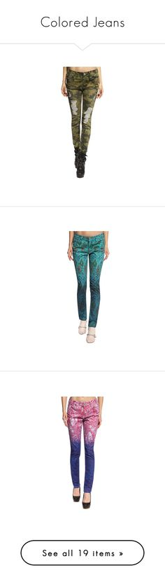 """""""Colored Jeans"""" by anladia ❤ liked on Polyvore featuring jeans, white distressed skinny jeans, high rise skinny jeans, white destroyed skinny jeans, ripped skinny jeans, high waisted ripped skinny jeans, high-waisted skinny jeans, high waisted jeans, white high waisted jeans and high waisted ripped jeans"""
