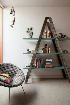 DIY ladder shelf ideas - Easy ways to reuse an old ladder at home