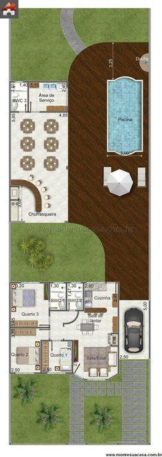 Casa 2 Quartos - 87.81m²