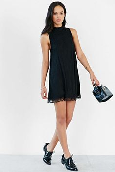 Cooperative Scallop-Hem Lace Frock Dress #UrbanOutfitters