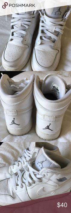 Retro Jordan 1 Mids Retro air Jordan 1 Mids all white! Jordan Shoes Athletic Shoes