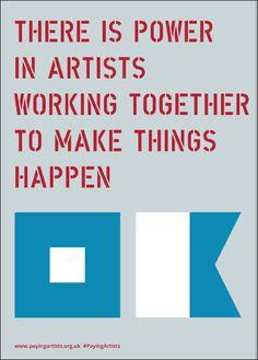 Paying Artists Artist-Led Manifesto