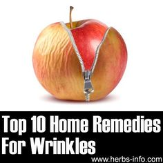 What Causes Wrinkles? Wrinkles are every woman's worst enemy – and many men don't want them either! Collagen and elastin are responsible for keeping our skin … Home Remedies For Wrinkles, Top 10 Home Remedies, Natural Home Remedies, Natural Healing, Herbal Remedies, Hair Remedies, Health Remedies, What Causes Wrinkles, Prevent Wrinkles
