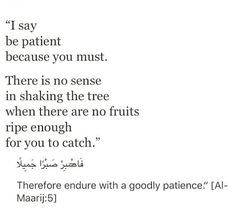 endure with a goodly patience. Quran Quotes Inspirational, Beautiful Islamic Quotes, Faith Quotes, True Quotes, Imam Ali Quotes, Muslim Quotes, Religious Quotes, Coran Quotes, Islamic Phrases